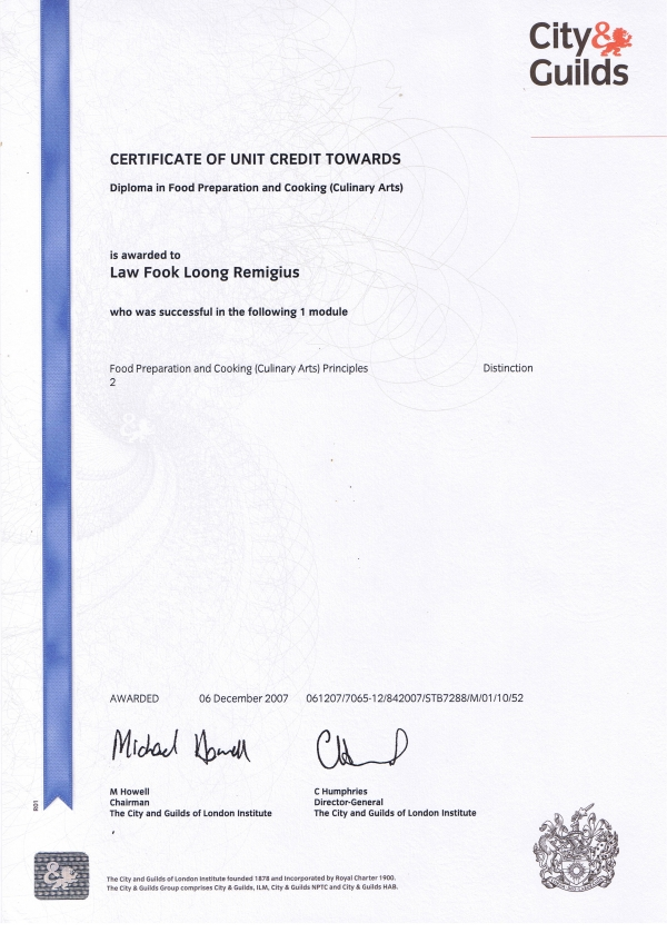 Theory Certificate