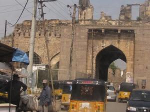 Galconda fort gate, Hyderabad